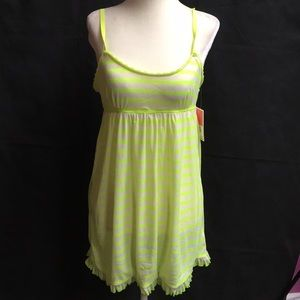 Juicy Couture Intimates M Nightie Green Stripe NWT